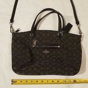 Coach Clutch Handbag Black Grey very nice